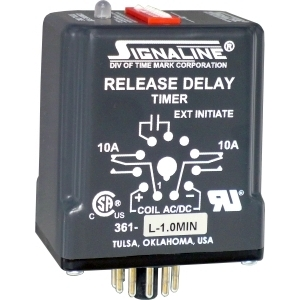 361-H-1MIN TMK RELEASE DELAY TIMER 40-260V AC/DC, ADJUSTABLE: 1-1023 SEC, DPDT HIGH-ACCURACY DIGITAL INPUT, NORYL PLASTIC, 11-PIN SOCKET MOUNT