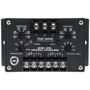 22VB-3-Phase-Voltage-Band-Monitor-SPDTx2-with-Trip-and-Restart-Delays